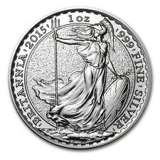 British Royal Mint UK £2 Britannia 2015 1 oz .999 Silver Coin