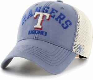 TEXAS RANGERS MLB BLUE SNAPBACK BRAYMAN TRUCKER RELAXED CAP HAT NWT! '47 BRAND