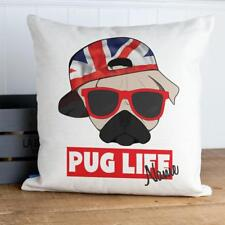 Personalised Pug Life Cushion Cover Funny Dog Pillow Gift KC43