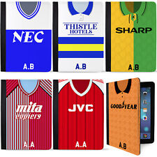 Retro Football Shirt iPad Case 2, 3 & 4 Gen 9.7 Cover Personalised ALL TEAMS