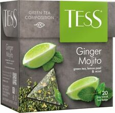 Green tea TESS Ginger mojito lemon peel and mint Beverages Grocery