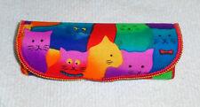 Children's Eyeglass / Sunglass Soft Fabric Case - Cats  Near Mint Condition