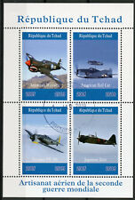 Chad 2019 CTO WWII WW2 Aircraft American Mustang 4v M/S Aviation Military Stamps