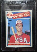 1985 TOPPS #401 MARK McGWIRE OLYMPIC TEAM USA ROOKIE CARD OAKLAND ATHLETICS