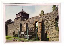 Postcard: The Old Church and Robert Owen's Grave at Newtown Montgomery, Wales