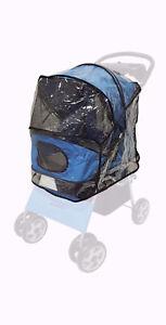 Transparent Dog Stroller Rain & Wind COVER for Foldable Pet Buggy Pushchair Pram