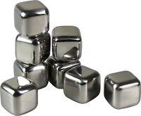 8pcs Stainless Steel Ice Cube Cubes Glacier Rocks Whisky Whiskey Stones Bulk Set
