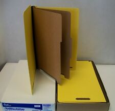 15 Partition Folders, Bright Yellow, Legal Size, 6 Fasteners, 2 Partitions 49038