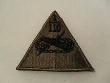 60'S HARD TO FIND 1ST BN 110TH ARMORED BN SUBDUED PATCH MASS UNIT ME