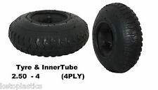 2,50 - 4 pneumatici con tubo interno (220 x 65) Sack TRUCK TROLLEY Bent Valvola (4 Ply)