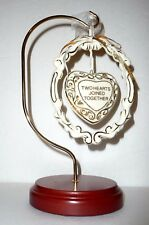 2000 Millennium Hanging Christmas Ornament, Two Hearts Joined Together, Wedding