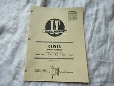 Oliver 66 77 88 770 880 tractor service repair shop manual