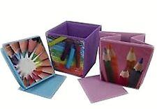 Cube Shaped Waste Paper Bin 3 Fun Designs Bedroom Playroom Kids Students Pink
