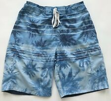 Speedo Boys Swim Trunks Swimwear Sz S Various Shades Of Blue Side Pockets