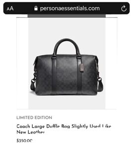 Coach Voyager Duffle Travel Bag - Black