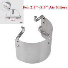 "1pc Silver Stainless Air Intake Filter Heat Shield Cover For 2.5""-5"" Air Filter"