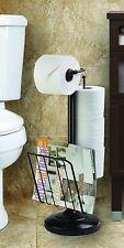 Toilet Paper Holder Roll Stand Magazine Tissue Organizer Bathroom Storage Rack