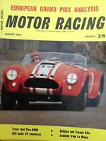 Vintage Motor Racing magazine August 1964-Belgian, French Grand Prix