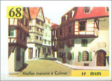 IMAGE CARD Maison à colombages Timber framing Colmar Haut-Rhin Alsace France 60s