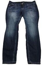 Torrid Premium Skinny Embellished Pockets Medium Wash Jeans Stretch Size 16