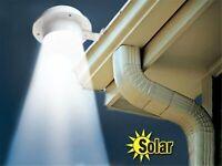 3 LED Solar Powered Gutter Light Outdoor/Garden/Yard/Wall/Fence/Pathway Lamp