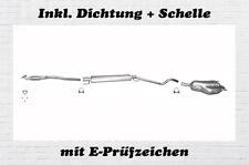 Opel Astra H Caravan 1.6 1.8 Auspuffanlage Mitteltopf Endtopf Hosenrohr Schelle