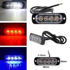 4LED 4W 12-24V IPX4 Slim Car Flash Truck Emergency Light Bar Strobe Warning Lamp