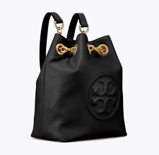 NWT Tory Burch Fleming Mini Backpack Black Leather