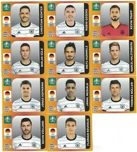 Panini EURO 2020 (EM 2021) - ALLE 11 Zusatzsticker Deutschland (DFB) UPDATE