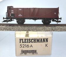 Fleischmann 5216A; Hochbordwagen m. Brhs. Om ÖBB, Export, in OVP /F085