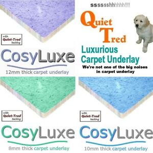 lowest price CosyLuxe luxurious carpet underlay choice of 8mm 10mm & 12mm thick