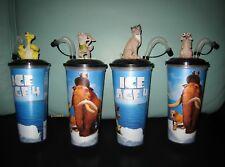 SET ICE AGE 4 KINO TRINK BECHER CINEMA MOVIE CUP mit 4 Topper / Figuren  NEU NEW