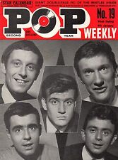 Pop Weekly Magazine 4 January 1964  The Beatles  Rolling Stones  Adrienne Poster