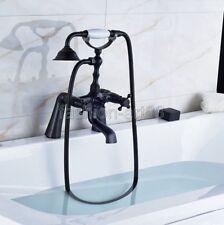 Black Oil Rubbed Bronze Bath Clawfoot Tub Mixer Tap Faucet Hand Shower fhg025
