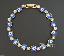 Nazar Boncuk Evil Eye Gold Armband 18 Karat vergoldet Böses Auge Blick Bileklik