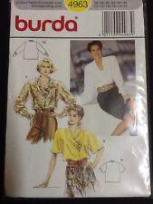 Burda Scarf Neck Blouse Size 10-20 # 4963 Uncut & Unopened Vintage