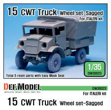 DEF. Model, British 15 Cwt Truck Wheel Set (for ITALERI), DW30023, 1:35
