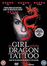 The Girl With The Dragon Tattoo DVD Stieg Larson UK Version Cert 18