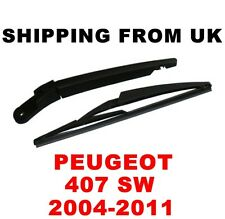 REAR WINDSCREEN WINDSHIELD WIPER ARM & + BLADE SET PEUGEOT 407SW ESTATE KOMBI