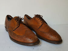 Allen Edmonds MACNEIL mens long wingtip light brown grain leather blucher 10.5 D