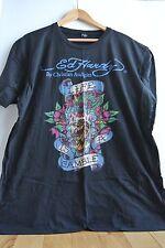 Ed Hardy Men's XXL 2X T-Shirt Black LIFE IS A GAMBLE Serpent Eagle