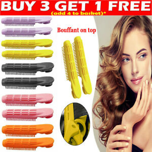 2Pcs Natural Fluffy Hair Clip Hair Root Curler Roller Wave Clip Fluffy 5 Colors