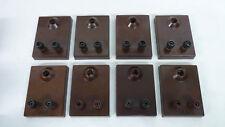 1 von 8 Stück altes RFT Lampenbrett - Bakelit - guter Zustand - E 10
