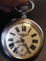 Antique pocket watch UNIVERSUM sisteme Roskopf, pure nicel, cca 1870th