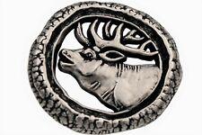 Hirschknopf Knöpfe silber antik Tracht Hirsch Ösenknöpfe aus Metall 6 Stück