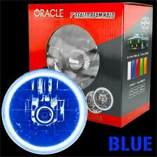 """ORACLE 7"""" Sealed Beam Headlight with ORACLE Pre-Installed Blue SMD Halo"""
