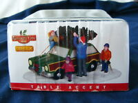NEW 2014 LEMAX 4Figures Dad Mom kids Tie Christmas Tree Car Roof Covent Village