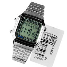 Casio Collection Unisex Digital Multi Alarm Dual Time Quartz watch A178WA. YVIV