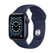 Apple Watch Series 6 44mm BlueCaseDeep Navy Sport Band GPS + Cellular Pristine