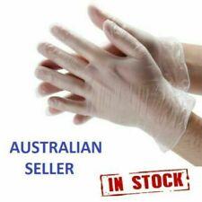 100Pcs Premium Vinyl Disposable Gloves Clear Powdered Powder Free Medium / Large